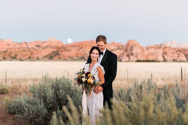 Destination Wedding At Lazalu Zion National Park Retreat 12